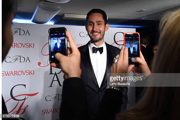 Kevin Systrom poses on the winners walk at the 2015 CFDA Fashion Awards at Alice Tully Hall at Lincoln Center on June 1 2015 in New York City
