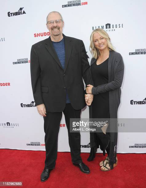 Kevin Tenney and Cathy Podewell attend the 6th Annual Etheria Film Showcase held at American Cinematheque's Egyptian Theatre on June 29 2019 in...