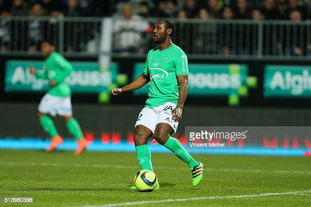 Kevin Theophile Catherine of SaintEtienne during the French Ligue 1 match between Angers SCO v AS SaintEtienne at Stade JeanBouin on March 5 2016 in...