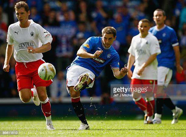Kevin Thomson of Rangers in action during the Scottish Premier League match between Rangers and Falkirk at Ibrox Stadium on August 15 2009 in Glasgow...