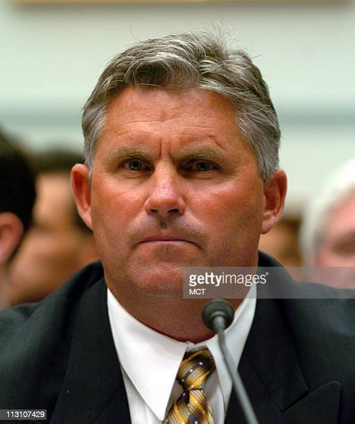 WASHINGTON DC Kevin Towers general manager of the San Diego Padres testifies at a hearing by the House Government Affairs Committee looking into the...