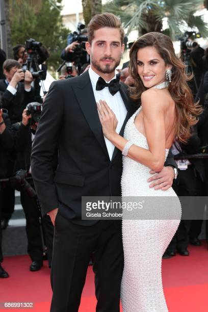 Kevin Trapp and Izabel Goulart attend The Killing Of A Sacred Deer premiere during the 70th annual Cannes Film Festival at Palais des Festivals on...