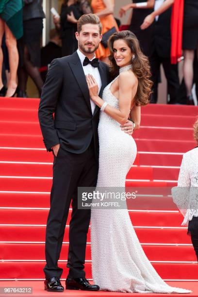 Kevin Trapp and Izabel Goulart attend 'The Killing Of A Sacred Deer' screening during the 70th annual Cannes Film Festival at Palais des Festivals on...