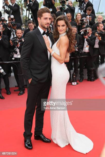 Kevin Trapp and Izabel Goulart attend the 'The Killing Of A Sacred Deer' screening during the 70th annual Cannes Film Festival at Palais des...