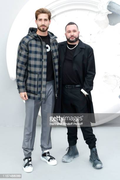 Kevin Trapp and Stylist Kim Jones pose after the Dior Homme Menswear Spring Summer 2020 show as part of Paris Fashion Week on June 21 2019 in Paris...