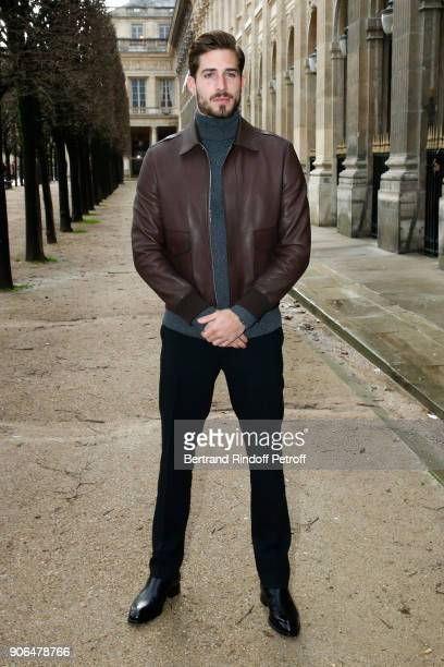 Kevin Trapp attends the Louis Vuitton Menswear Fall/Winter 20182019 show as part of Paris Fashion Week on January 18 2018 in Paris France