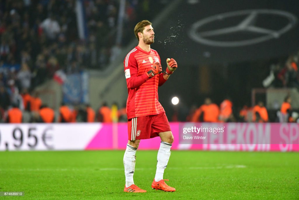 Kevin Trapp of Germany during the international friendly match between Germany and France at RheinEnergieStadion on November 14, 2017 in Cologne, Germany.
