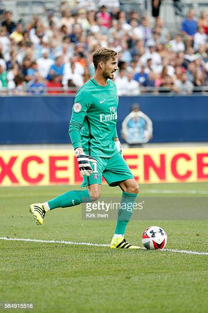 Kevin Trapp of Paris SaintGermain FC kicks the ball during the game against Real Madrid CF on July 27 2016 at Ohio Stadium in Columbus Ohio