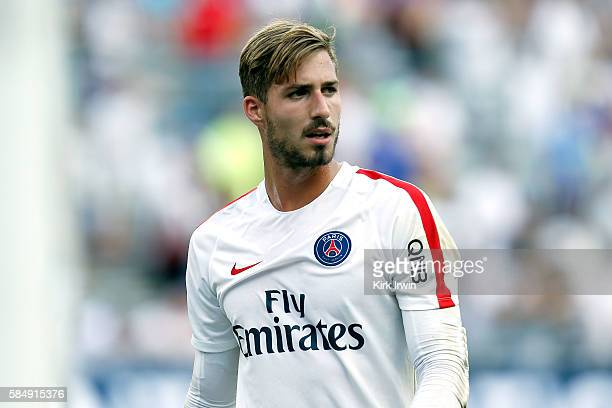 Kevin Trapp of Paris SaintGermain FC warms up prior to the start of the game against Real Madrid CF on July 27 2016 at Ohio Stadium in Columbus Ohio