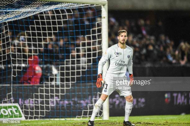 Kevin Trapp of PSG during the french League Cup match Round of 16 between Strasbourg and Paris Saint Germain on December 13 2017 in Strasbourg France