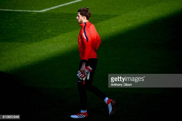 Kevin Trapp of PSG during training session of Paris Saint Germain PSG at Camp des Loges on January 26 2018 in Paris France