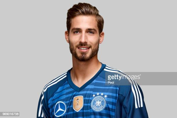 Kevin Trapp poses for a photo during a portrait session ahead of the 2018 FIFA World Cup Russia at Eppan training ground on June 5 2018 in Eppan Italy