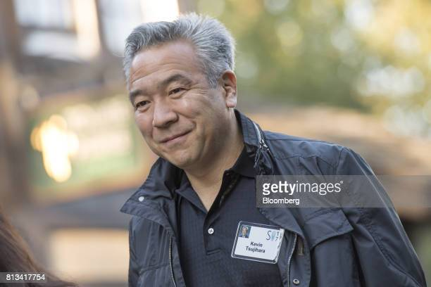 Kevin Tsujihara chairman and chief executive officer of Warner Bros Entertainment Inc arrives for a morning session during the Allen Co Media and...