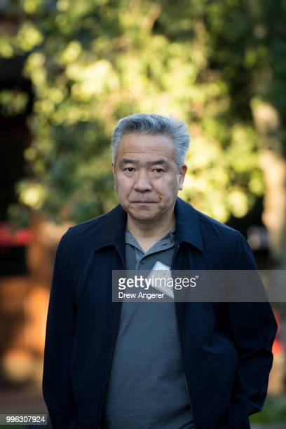 Kevin Tsujihara chairman and chief executive officer of Warner Bros Entertainment arrives for a morning session of the annual Allen Company Sun...