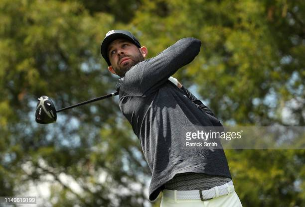 Kevin Tway of the United States plays a shot from the 11th tee during the first round of the 2019 PGA Championship at the Bethpage Black course on...