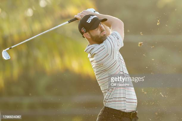 Kevin Tway of the United States plays his shot from the seventh tee during the second round of the Sony Open in Hawaii at the Waialae Country Club on...