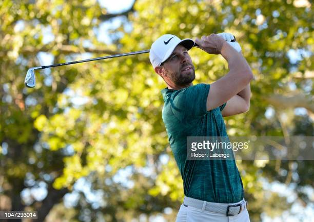 Kevin Tway plays his shot from the 17th tee during the final round of the Safeway Open at the North Course of the Silverado Resort and Spa on October...