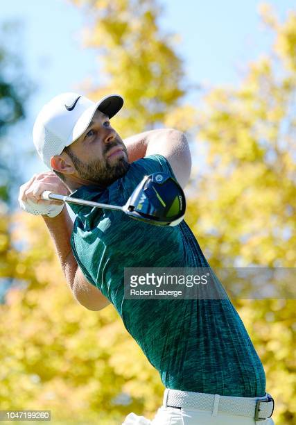 Kevin Tway plays his shot from the first tee during the final round of the Safeway Open at the North Course of the Silverado Resort and Spa on...