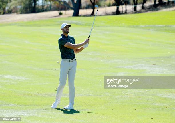 Kevin Tway plays his shot on the fourth hole during the final round of the Safeway Open at the North Course of the Silverado Resort and Spa on...