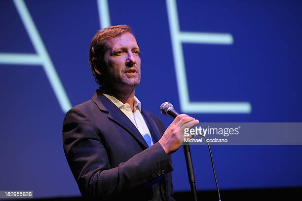 Kevin Ulrich speaks onstage at the Gala Tribute To Cate Blanchett during the 51st New York Film Festival at Alice Tully Hall at Lincoln Center on...