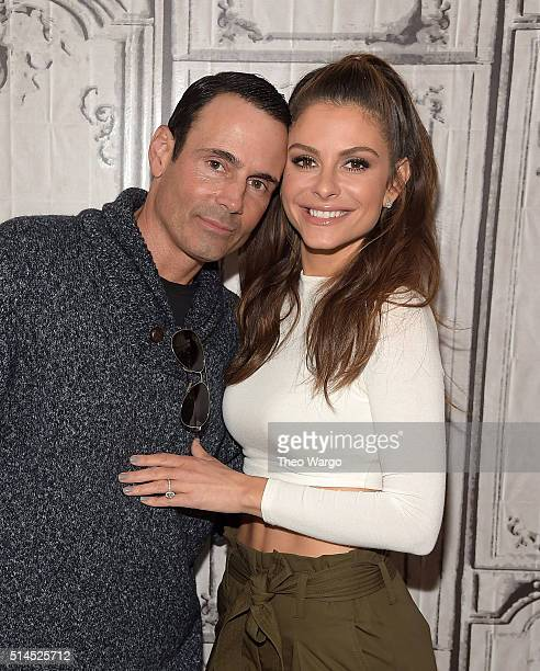 Kevin Undergaro and Maria Menounos attend the AOL Build Speakers Series Maria Menounos The EveryGirl's Guide to Cooking at AOL Studios In New York on...