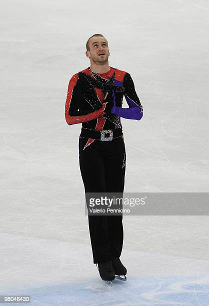Kevin Van Der Perren of Belgium competes in the Men Free Skating during the 2010 ISU World Figure Skating Championships on March 25 2010 in Turin...