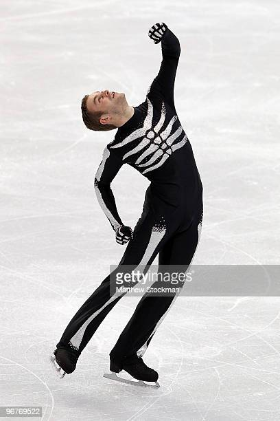 Kevin van der Perren of Belgium competes in the men's figure skating short program on day 5 of the Vancouver 2010 Winter Olympics at the Pacific...