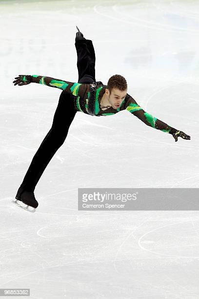 Kevin van der Perren of Belgium competes in the men's figure skating free skating on day 7 of the Vancouver 2010 Winter Olympics at the Pacific...