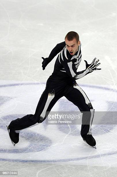 Kevin Van Der Perren of Belgium competes in the Men's Short Program during the 2010 ISU World Figure Skating Championships on March 24 2010 in Turin...