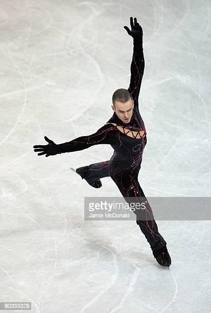 Kevin Van Der Perren of Belgium in action during his Short Programe during the ISU World Figure Skating Championships at the Scandinavium Arena on...