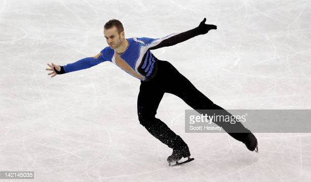 Kevin Van Der Perren of Belgium performs during day five of the ISU World Figure Skating Championships on March 30 2012 in Nice France