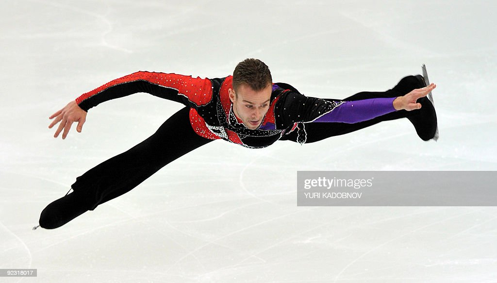 Kevin Van Der Perren of Belgium performs his free program at the ISU Grand Prix Rostelecom Cup in Moscow on October 24, 2009.