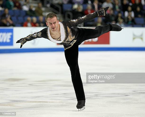 Kevin Van Der Perren of Belgium performs in the Men's Free Skating during Hilton HHonors Skate America at Citizens Business Bank Arena on October 22...