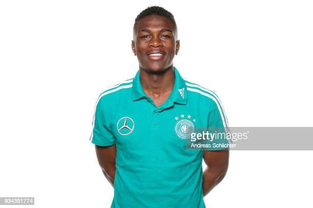 Kevin Vangu Phambu Bukusu during the U17 Germany Team Presentation on March 19 2018 in Frankfurt am Main Germany
