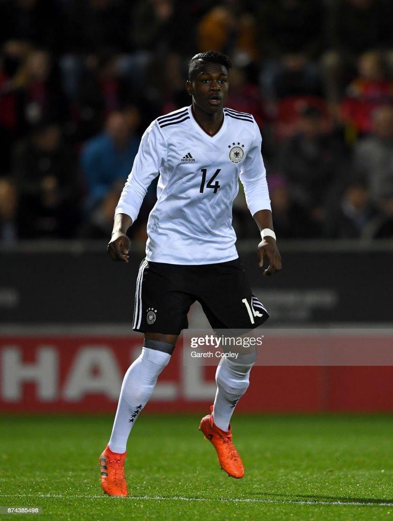 Kevin Vangu Phambu Bukusu of Germany during the International Match between England U17 and Germany U17 at The New York Stadium on November 14, 2017 in Rotherham, England.