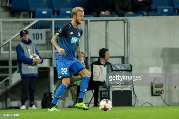 Kevin Vogt of Hoffenheim controls the ball during the UEFA Europa League Group C match between 1899 Hoffenheim and Istanbul Basaksehir FK at Wirsol...