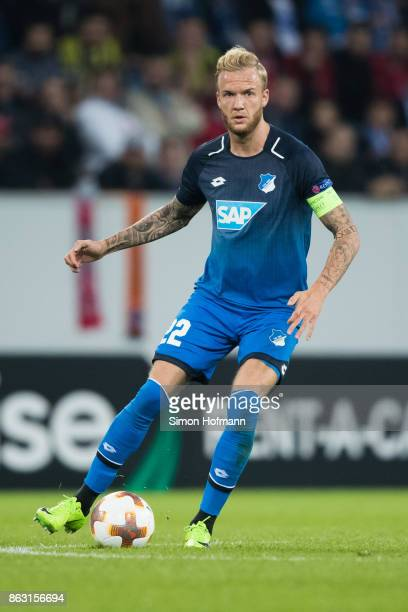 Kevin Vogt of Hoffenheim in action during the UEFA Europa League group C match between 1899 Hoffenheim and Istanbul Basaksehir FK at Wirsol...