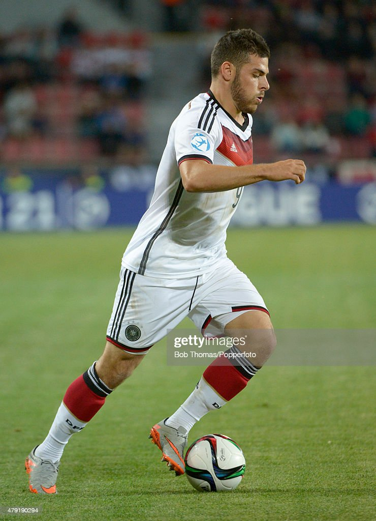 Kevin Volland in action for Germany during the UEFA European Under-21 Group A match between Germany and Serbia at Letna Stadium on June 17, 2015 in Prague, Czech Republic. The match was drawn 1-1. (Photo by Bob Thomas/Popperfoto/Getty Images).