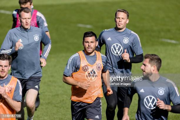 Kevin Volland of Germany looks on during Day 3 of the Germany Seefeld Training Camp on May 30, 2021 in Seefeld in Tirol, Austria.