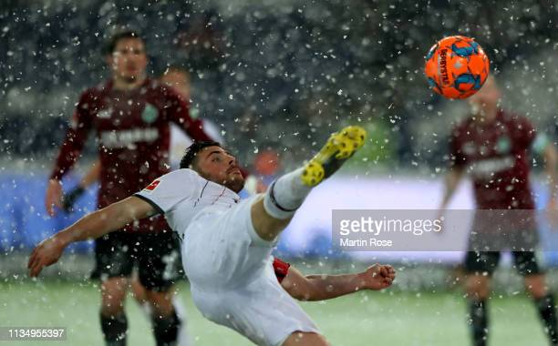 Kevin Volland of Leverkusen in action during the Bundesliga match between Hannover 96 and Bayer 04 Leverkusen at HDIArena on March 10 2019 in Hanover...