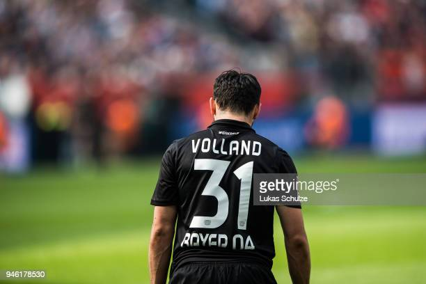 Kevin Volland of Leverkusen looks disappointed during the Bundesliga match between Bayer 04 Leverkusen and Eintracht Frankfurt at BayArena on April...
