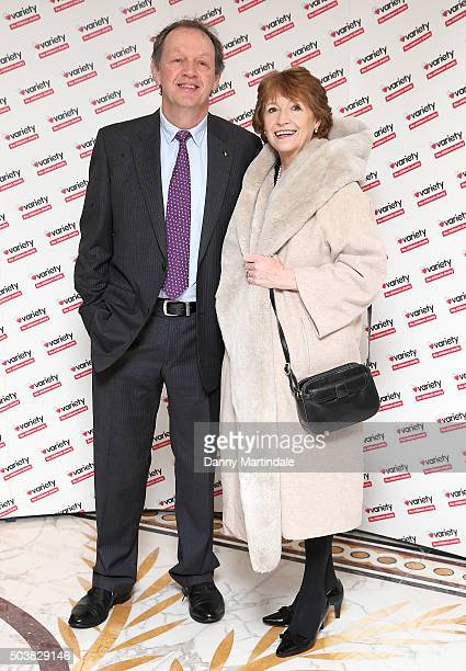Kevin Whately and Madelaine Newton attends a Torvill and Dean tribute lunch in aid of Variety at The Dorchester on January 7 2016 in London England