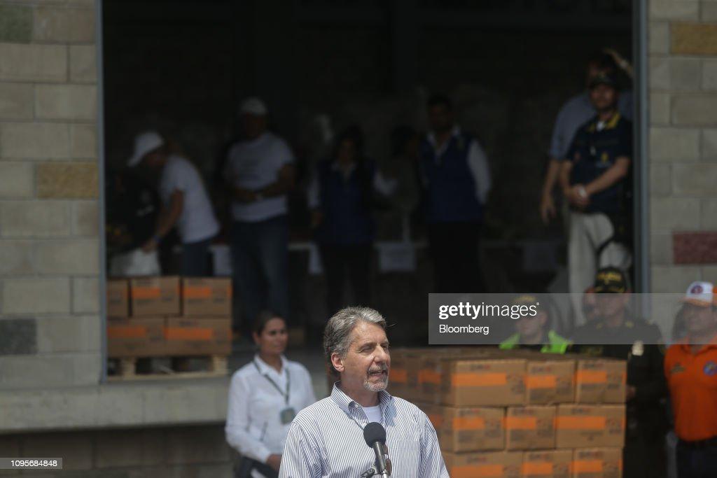 Kevin Whitaker, U S  ambassador to Colombia, speaks as U S