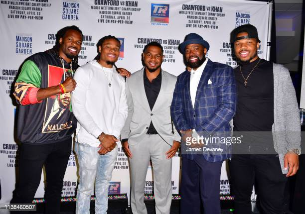 Kevin White Ka'Raun White guests and Kyzir White attend Top Rank VIP party prior to the WBO welterweight title fight between Terence Crawford and...