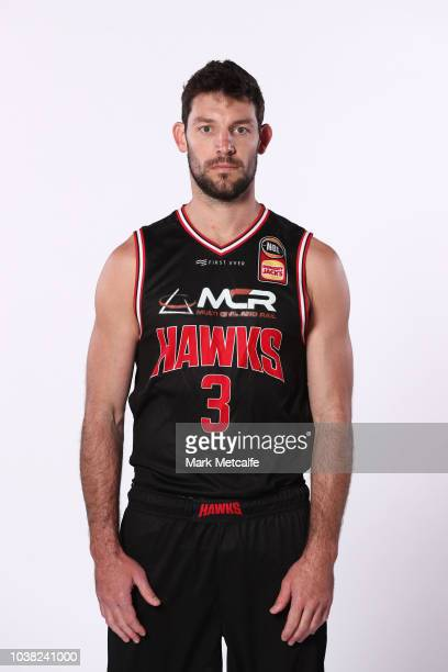 Kevin White of Illawarra Hawks poses during the 2018/19 NBL media day at Bendigo Stadium on September 21 2018 in Bendigo Australia