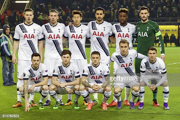 Kevin Wimmer of Tottenham Hotspur FC Toby Alderweireld of Tottenham Hotspur FC Son HeungMin of Tottenham Hotspur FC Nacer Chadli of Tottenham Hotspur...