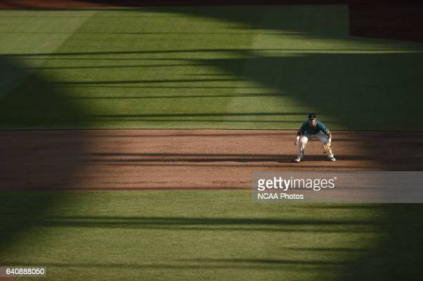 Kevin Woodall Jr of Coastal Carolina University anticipates the play against University of Arizona during the Division I Men's Baseball Championship...