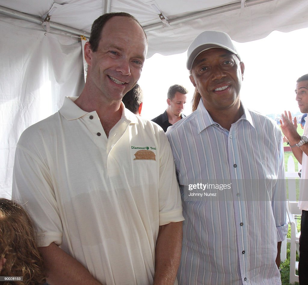 Kevin Yardly and Russell Simmons attend the closing day of the Mercedes-Benz Polo Challenge at Blue Star Jets Field at Two Trees Farm on August 22, 2009 in Bridgehampton, New York.