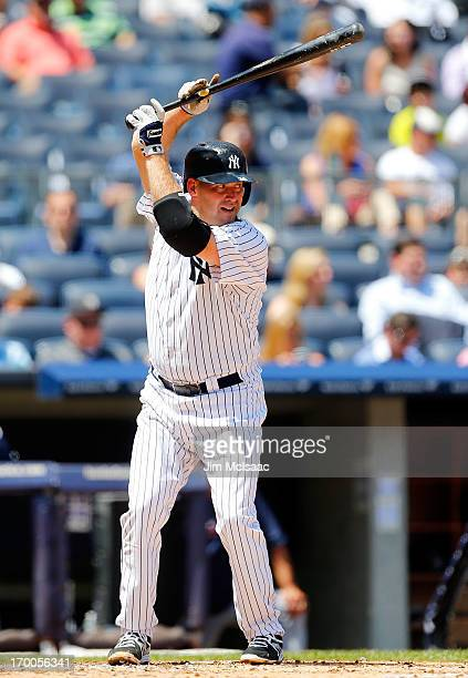 Kevin Youkilis of the New York Yankees in action against the Cleveland Indians at Yankee Stadium on June 5 2013 in the Bronx borough of New York City...
