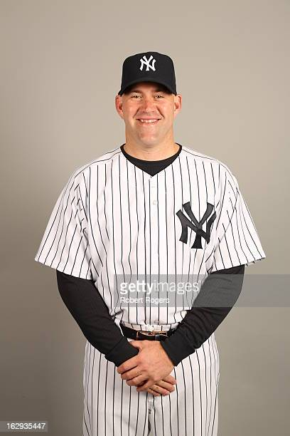 Kevin Youkilis of the New York Yankees poses during Photo Day on February 20 2013 at George M Steinbrenner Field in Tampa Florida